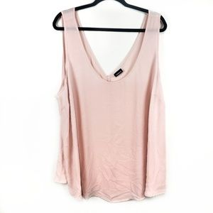 Torrid blush pink sheer flowy sleeveless top sz 3